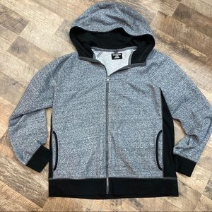Express zip front hooded sweat jacket